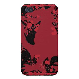 Caja roja del iPhone 4 del dragón Galés iPhone 4 Cobertura