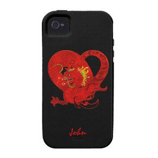 Caja roja del iPhone 4 del dragón iPhone 4 Carcasa
