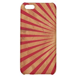 Caja roja del iPhone 4 del fondo de la explosión d