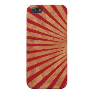 Caja roja del iPhone 4 del fondo de la explosión d iPhone 5 Protectores