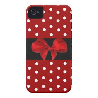 Caja roja del iPhone 4 del lunar Funda Para iPhone 4