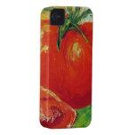 Caja roja del iPhone 4 del tomate iPhone 4 Case-Mate Cárcasa