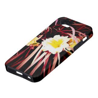 Caja roja del iPhone 5/5s de la hierba del tulipán iPhone 5 Protectores
