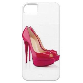 Caja roja del iPhone 5/5s de los tacones de aguja iPhone 5 Fundas
