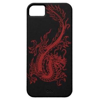Caja roja del iPhone 5 de Glaurung del dragón iPhone 5 Carcasa