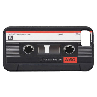 Caja roja del iPhone 5 de la cinta de casete iPhone 5 Fundas