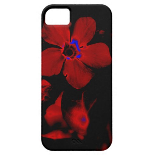 Caja roja del iPhone 5 de la flor iPhone 5 Cárcasas