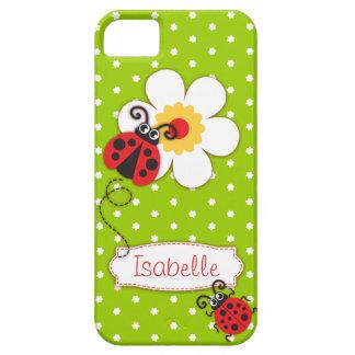 Caja roja del iphone 5 de la mariquita de los funda para iPhone SE/5/5s