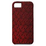 Caja roja del iPhone 5 de la placa del diamante iPhone 5 Case-Mate Cárcasa
