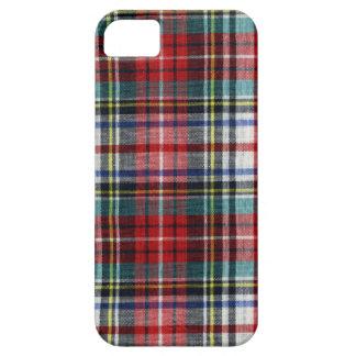 Caja roja del iPhone 5 de la tela escocesa del nav iPhone 5 Case-Mate Funda