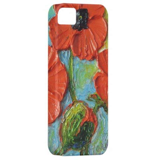 Caja roja del iPhone 5 de las amapolas iPhone 5 Case-Mate Fundas
