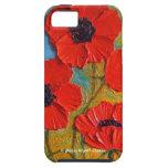 Caja roja del iPhone 5 de las amapolas iPhone 5 Cobertura