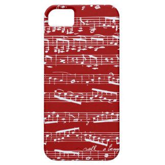 Caja roja del iphone 5 de las notas musicales funda para iPhone SE/5/5s