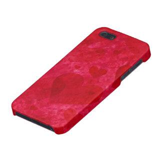 Caja roja del iPhone 5 de los corazones iPhone 5 Cárcasas