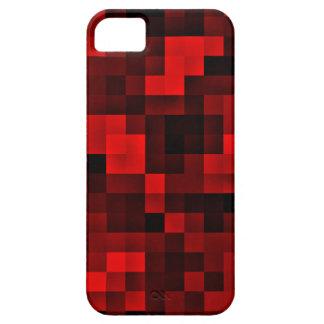 Caja roja del iPhone 5 de los pixeles iPhone 5 Case-Mate Cobertura