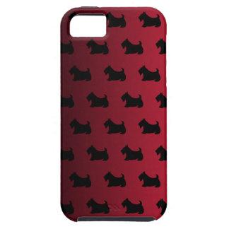 Caja roja del iPhone 5 de Terrier del escocés Funda Para iPhone SE/5/5s