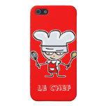 Caja roja del iphone 5 del cocinero del cocinero iPhone 5 carcasas