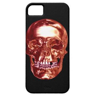 Caja roja del iPhone 5 del cráneo del cromo iPhone 5 Protector