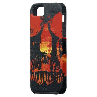 Caja roja del iPhone 5 del cráneo del Grunge iPhone 5 Carcasa