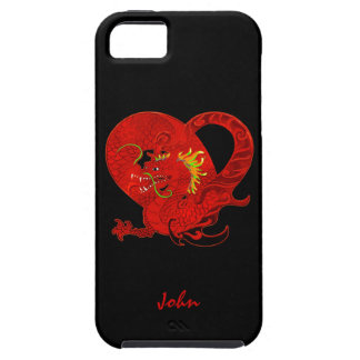 Caja roja del iPhone 5 del dragón iPhone 5 Funda