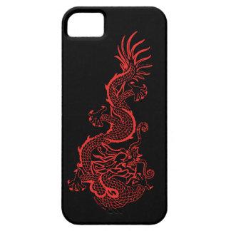 Caja roja del iPhone 5 del dragón iPhone 5 Fundas