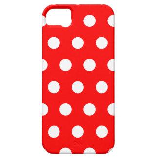 Caja roja del iPhone 5 del lunar iPhone 5 Funda