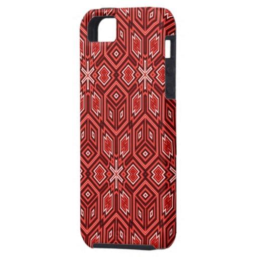Caja roja del iPhone 5 del modelo 08 del fractal iPhone 5 Funda