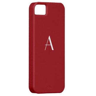 Caja roja del iPhone 5 del monograma de la sangría iPhone 5 Protectores