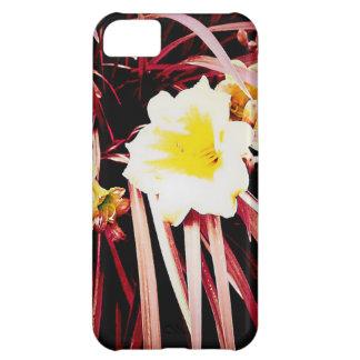 Caja roja del iPhone 5c de la hierba de los tulipa