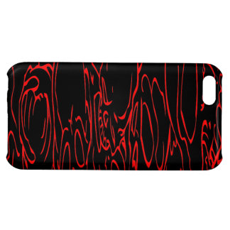 Caja roja del iPhone 5C del cráneo