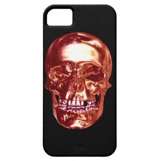 Caja roja del iPhone 5G del cráneo del cromo iPhone 5 Case-Mate Cárcasas