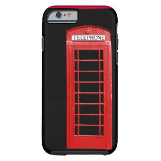 Caja roja del iPhone 6 de la cabina de teléfonos Funda De iPhone 6 Tough