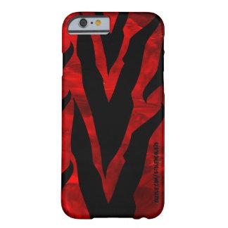 Caja roja del iPhone 6 de la cebra