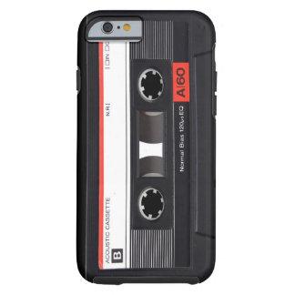 Caja roja del iPhone 6 de la cinta de casete Funda Para iPhone 6 Tough