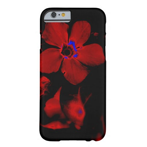 Caja roja del iPhone 6 de la flor Funda De iPhone 6 Barely There