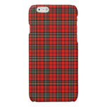 Caja roja del iPhone 6 de la tela escocesa del