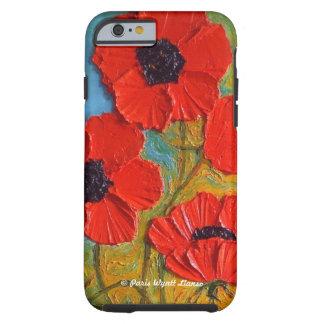 Caja roja del iPhone 6 de las amapolas Funda Resistente iPhone 6