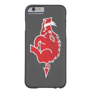 Caja roja del iPhone 6 del cerdo Funda De iPhone 6 Barely There