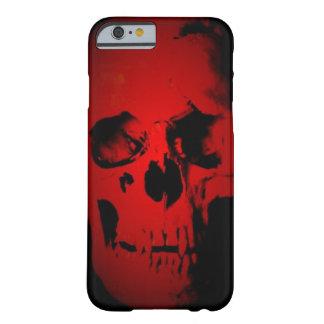 Caja roja del iPhone 6 del cráneo Funda De iPhone 6 Barely There