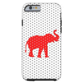 Caja roja del iPhone 6 del elefante Funda De iPhone 6 Tough