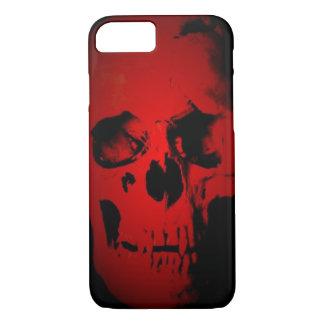 Caja roja del iPhone 7 del cráneo Funda iPhone 7