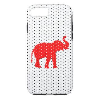 Caja roja del iPhone 7 del elefante Funda iPhone 7