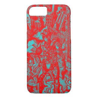 Caja roja del iPhone 7 del vaquero Funda iPhone 7