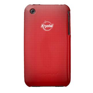 Caja roja del iPhone de Krystal iPhone 3 Case-Mate Cárcasa