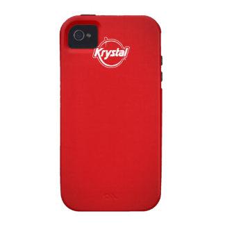 Caja roja del iPhone de Krystal Vibe iPhone 4 Carcasa