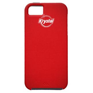 Caja roja del iPhone de Krystal iPhone 5 Case-Mate Cárcasas