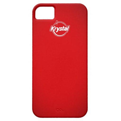 Caja roja del iPhone de Krystal iPhone 5 Protectores