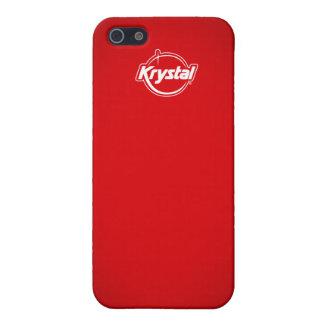 Caja roja del iPhone de Krystal iPhone 5 Funda