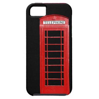 Caja roja del iPhone de la cabina de teléfonos iPhone 5 Funda