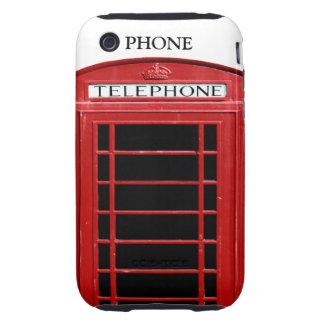 Caja roja del iPhone de la caja del teléfono del v Tough iPhone 3 Cobertura